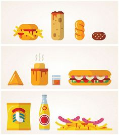 2Bop street food inspired illustrations by MUTI