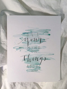 Handy Tips to Create Nice Lettering Calligraphy for Beginners – Focus on the things above. Handy Tips to Create Nice Lettering Calligraphy for Beginners – Focus on the things above. Scripture Art, Bible Art, Bible Quotes, Bible Verses, Bible Verse Painting, Bible Verse Canvas, Printable Scripture, Sign Painting, Canvas Quotes