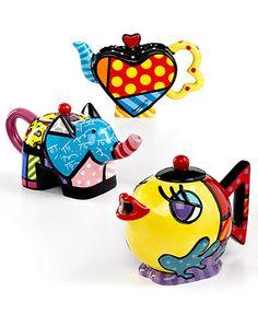 Romero Britto Drinkware, Mini Teapot Collection - Serveware - Dining & Entertaining - Macy's
