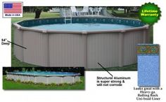 Above ground pools on pinterest above ground pool pools for Top of the line above ground pools