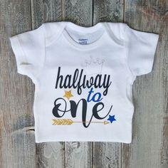 Half birthday Onesie Baby boy clothes Baby boy Baby Baby