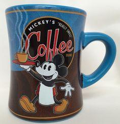 Walt Disney World MICKEY MOUSE Really Swell Blend Coffee Cup Mug Park Souvenir #WaltDisney
