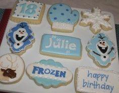 Frozen Movie Cookies | Visit justabitedesserts.com