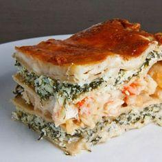 70 Ideas Seafood Lasagna Recipe Lasagne White Sauce For 2019 Seafood Dinner, Fish And Seafood, Seafood Lasagna Recipes, Lobster Lasagna Recipe, Shrimp Lasagna, Food Porn, Paula Deen, Quesadillas, Al Dente