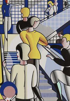 ROY LICHTENSTEIN - Bauhaus stairway  1988