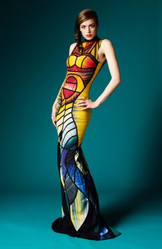 Gorgeous Dresses made from Upcycled Olympic Speedos #upcycle #ecofashion Fashion Art, Womens Fashion, Fashion Trends, High Fashion, Speedo Swimsuits, Moda Outfits, Creation Couture, Mellow Yellow, Colorful Fashion