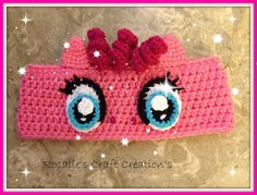 Crochet Finished My Little pony Pinky Pie Earwarmer by RosalieCraftCreation on Etsy Crochet Pony, Crochet Girls, Crochet Cross, Crochet For Kids, Crochet Hats, Crochet Headbands, Crochet Craft Fair, Crochet Projects, Crochet Character Hats