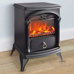 CorLiving Free Standing Electric Fireplace with Ornamental Hardware