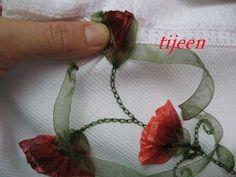 Ribbon Embroidery - Kurdela Nakışı - Hobilerim: adım adım kurdela nakışı yapılışı