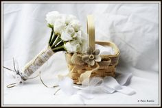 Celebrations Rustic Country Petite Flower Girl Basket