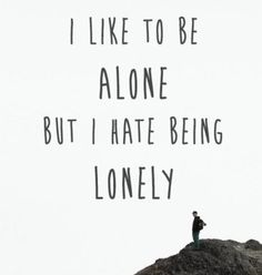 BEST LIFE QUOTES I like to beeline but I hate being lonely