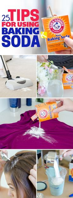 Baking soda uses you've gotta see to believe! jewelry cleaner without baking soda 25 Baking Soda Uses You've Never Heard Of Baking Soda Drain Cleaner, Baking Soda Shampoo, Baking Soda Beauty Uses, Baking Soda Uses, Baking Set, Diy Cleaning Products, Cleaning Hacks, Cleaning Solutions, Car Cleaning