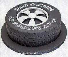 Car tyre cake idea
