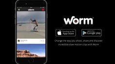 تطبيق Worm لتصوير الفيديو بحركة بطيئة للايفون