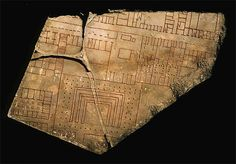 A fragment of the Forma Urbis Romae, a giant marble representation of the city of Rome circa 200AD. The plan was 18m wide, is very detailed and surprisingly modern.  For details, see the Stanford U project @ http://formaurbis.stanford.edu/