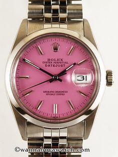 vintage pink face Rolex