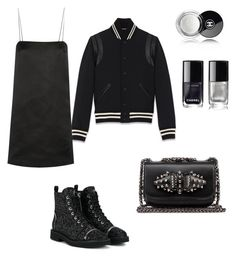 """""""Beat it, creep"""" by kamiren ❤ liked on Polyvore featuring Giuseppe Zanotti, Yves Saint Laurent, The Row, Christian Louboutin and Chanel"""