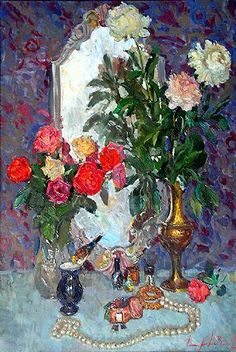 Theatrical Still Life flower - oil painting