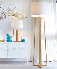 Beacon Lighting - Copenhagen Scandinavian inspired 1 light table lamp in teak