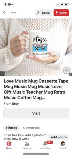 Gift For Music Lover, Music Lovers, Coffee Music, O Love, Love And Light, Mixtape, Teacher, Mugs, Retro