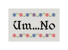 Funny Cross Stitch Pattern Counted Cross by CowbellCrossStitch