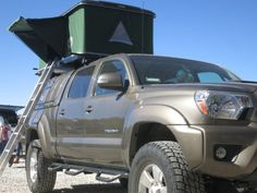 Truck Tent Works on Any SUV Car Truck or Van RV Pop Up Tents Roof Rack & Best Roof Racks and Cargo Boxes for Traveling Outdoor Enthusiasts ...
