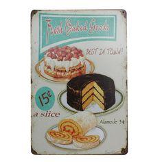 Like and share! Vintage Bakery, Vintage Cafe, Vintage Home Decor, Retro Vintage, Bakery Shop Design, Bakery Sign, Home Pub, Cafe Sign, Vintage Metal Signs