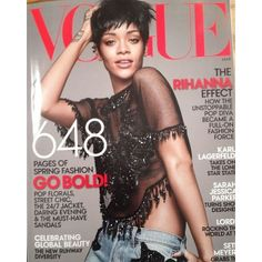 Rihanna covers American Vogue March 2014 issue