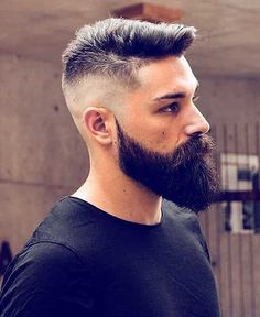 35 Cool Haircuts For Men ( The Best 2020 Gallery) - Hairmanz Faded Beard Styles, Beard And Mustache Styles, Long Beard Styles, Beard No Mustache, Hair And Beard Styles, Beard Cuts, Beard Fade, Beard Look, Beard Cut Style