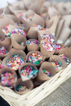 Give your wedding guests confetti, sprinkles, or glitter to throw….instead of rice.