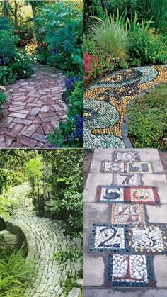 A whole bunch of beautiful & magical garden paths - style Esta . - A whole bunch of beautiful & magical garden paths – style Est … - Path Design, Landscape Design, Design Ideas, Landscape Bricks, Landscape Steps, Garden Paths, Garden Art, Mosaic Garden, Diy Garden