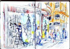 Urban Sketchers Spain. El mundo dibujo a dibujo.: GRAFFITI, ARTE URBANO