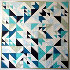 Quilt by @libselliott. Pattern + colors randomly designed using HYPE framework + Processing code.