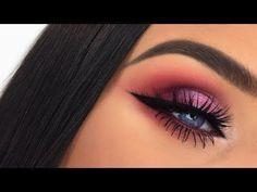 Huda Beauty Desert Dusk Palette | Half Cut Crease Makeup Tutorial - YouTube #cutcreasetutorial #halfcutcrease