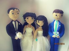 Amigurumi wedding party. (Inspiration).