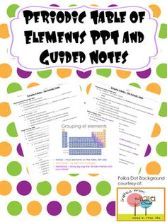 Periodic table of the elements activity pack fun hands on periodic table organization and trends powerpoint with guided notes and key urtaz