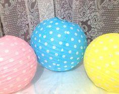 Lanterna Japonesa Color de Bolinhas 25cm