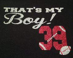 That's My Boy Football Mom T-Shirt GLITTER!!