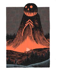 Why isn't it Halloween yet? by Sam Heimer Spooky Scary, Creepy Art, Arte Horror, Horror Art, Halloween Illustration, Illustration Art, Angst Im Dunkeln, Halloween Artwork, Over The Garden Wall