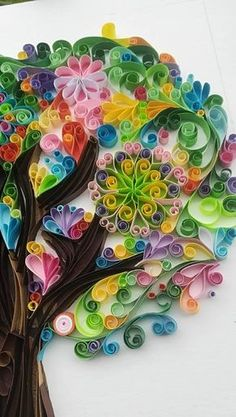 Quilling paper tree of joytreeoflife gift wedding tree personalised alegria wallpaper quilled art homedecor custom Paper Quilling Tutorial, Paper Quilling Patterns, Quilled Paper Art, Quilling Paper Craft, Paper Crafts, Quilling Ideas, Arte Quilling, Origami And Quilling, Quilled Creations