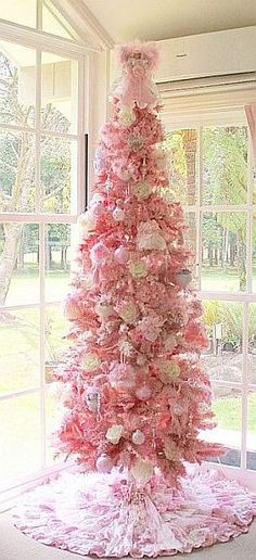 "Thinking of turning my fourth tree to take down into a ""Valentine's"" tree ;)"