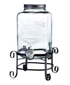 3-Gallon Beverage Dispenser Set #zulily #zulilyfinds