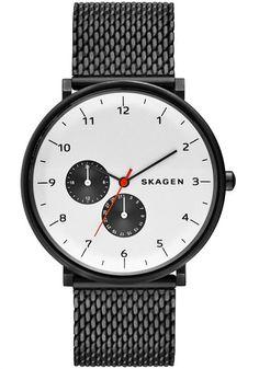 Skagen Hald Steel Mesh Watch Black/White SKW6188