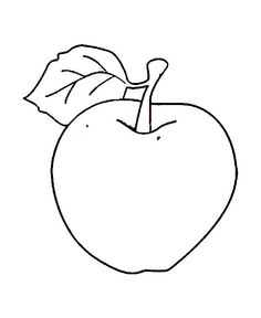 Apple Coloring Page : Coloring Sky Apple Coloring Pages, Pre K Worksheets, Black Ink Art, Learn Arabic Alphabet, Apple Activities, Online Coloring, Coloring Pages For Kids, Cut And Color, Some Fun