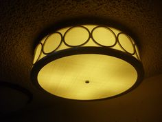 Hatbox Ceiling Light   Hand Finished Linen Acrylic   Lasercut Details   Custom Made by iWorks