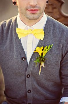 Elopment Styled Shoot.....adore yellow and grey together