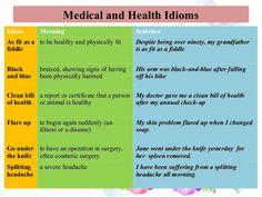 english idioms health