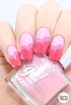 Gel Nail Designs You Should Try Out – Your Beautiful Nails Manicure Rose, Manicure Y Pedicure, Manicure Ideas, Valentine's Day Nail Designs, Nails Design, Heart Nail Designs, Nagellack Design, Valentine Nail Art, Valentine Nail Designs
