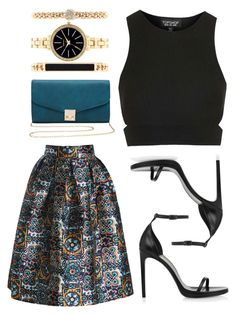 """Untitled #138"" by a-sassy-chaos ❤ liked on Polyvore featuring Topshop, M&Co, Yves Saint Laurent and Style & Co."