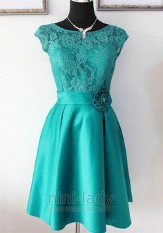 Kurz Türkis Spitze Abendkleid Party AbschlussballKleid Mutter der Braut Kleid | eBay